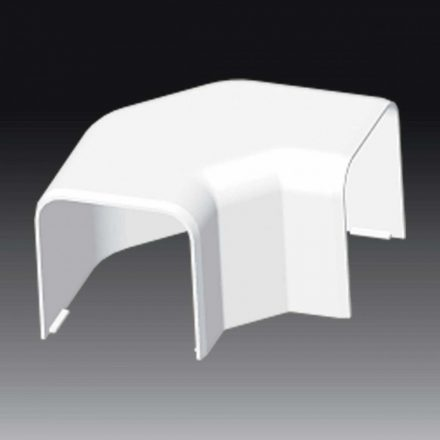 Műanyag kábelcsatorna síkbeli sarokidom / 60x60