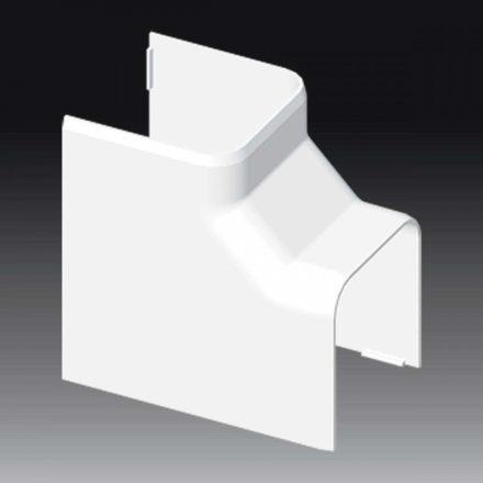 Műanyag kábelcsatorna belsősarok idom / 60x60