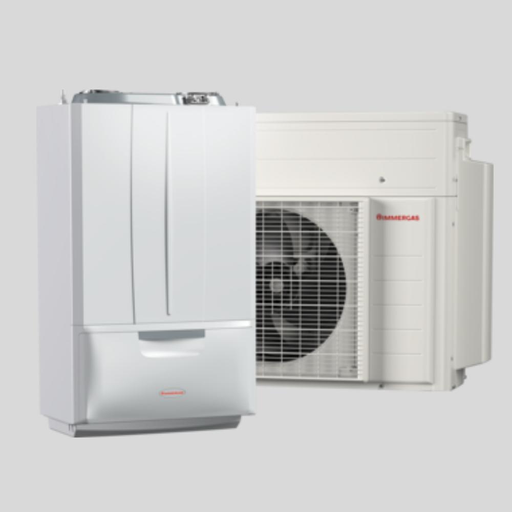 Immergas Hybrid kondenzációs kazán hőszivattyú rásegíttessél